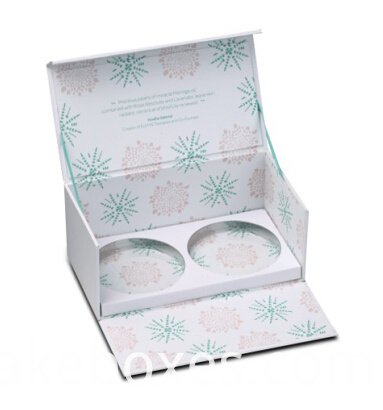 elegant cosmetics eyelash paper packaging box with magnet